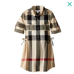 NEW Burberry Darielle' Check Print Dress